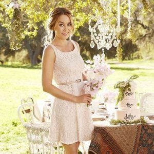 ☕️B2G1 LC Lauren Conrad Lace Sleeves A Line Dress